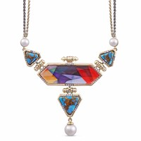 Lmj Forever Young Necklace Red Blue Gold