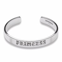 Cartergore Silver Medium Width Princess Bangle