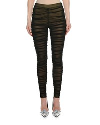 Tom Ford Ruched Sheer Leggings W Lining Black