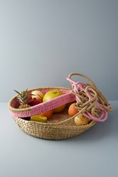 Anthropologie Biography Basket Pink