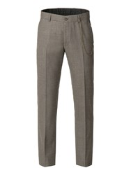 Gibson Men's Taupe Brushed Check Trouser Taupe