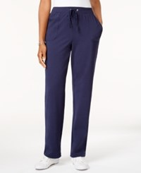 Karen Scott French Terry Active Pants Created For Macy's Intrepid Blue