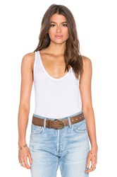 Velvet By Graham And Spencer Tila Lux Slub Scoop Neck Tank White