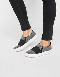 Kg By Kurt Geiger Glitz Sequin Slip On Sneakers Silver