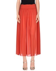 Pinko Skin Skirts 3 4 Length Skirts Women Red
