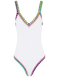 Kiini White Crochet Yaz Swimsuit