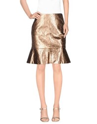Three Floor Skirts Knee Length Skirts Women Copper