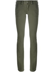 Dondup Bootcut Fit Trousers Green