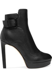 Jimmy Choo Britney Leather Ankle Boots Black