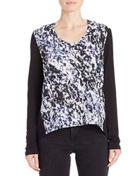 Ck Calvin Klein Abstract Print Hi Lo Tee