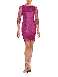 Alexia Admor Scalloped Sheath Dress Magenta