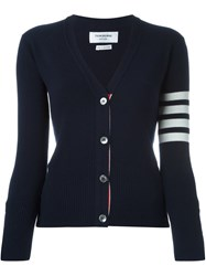 Thom Browne Striped Detailing Cardigan Blue