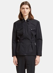 J.W.Anderson Buttoned Tab Shirt Jacket Black