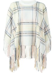 Chloe Chloe Checked Cape Nude And Neutrals
