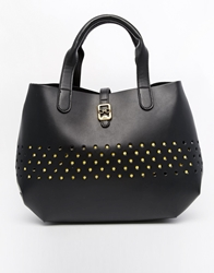 Nica Tote Bag With Cutwork Detail Black