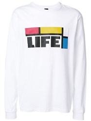 Pam P.A.M. Colour Block Sweatshirt White