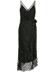 Manning Cartell Embroidered Flared Midi Dress Black