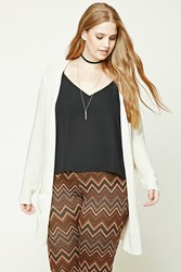 Forever 21 Plus Size Open Front Cardigan Cream