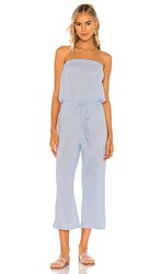 Blue Life Bell Jumpsuit In Blue. Chambray