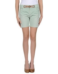 Galliano Denim Shorts Light Green