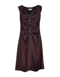 Almost Famous Knee Length Dresses Deep Purple