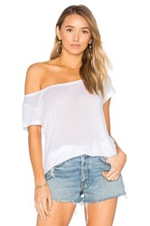 Weslin Grant The Vamp Off Shoulder Tee White