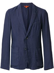 Barena Creased Suit Jacket Blue