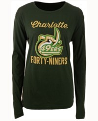 Royce Apparel Inc Women's Charlotte 49Ers Noelle Long Sleeve T Shirt Green
