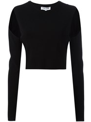 Opening Ceremony Cut Out Detail Crop Top Black