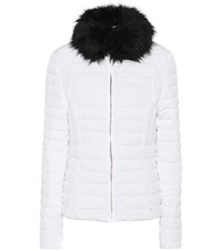 Hunter Faux Fur Down Coat White
