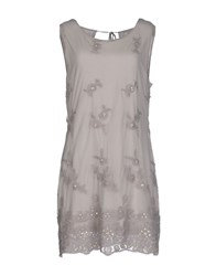 List Dresses Short Dresses Women Grey