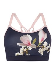 Ted Baker Harmony Floral Sports Bra Blue