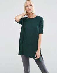 Asos T Shirt In Oversized Drapey Fit Green