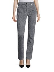 Escada Cotton Flannel Zebra Print Jeans Grey