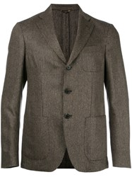 Etro Patterned Blazer Brown