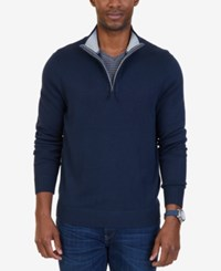 Nautica Men's Quarter Zip Pullover Sweater Charcoal Heather