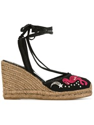 Marc Jacobs Nathalie Wedge Espadrilles Black