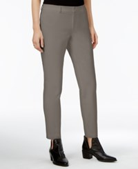 Maison Jules Straight Leg Ankle Pants Only At Macy's Wallstreet Gray