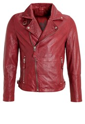 Gipsy Marlon Leather Jacket Rot Red