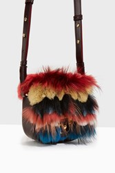 Paula Cademartori Stripe Fur Sml Cross Body Pa01