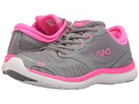 Ryka Carrara Summer Grey Frost Grey Neon Flamingo Women's Shoes Gray