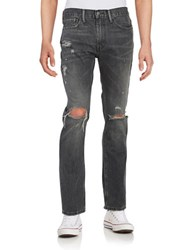 Levi's 511 Distressed Straight Leg Jeans Antique Rust