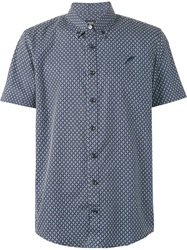 Publish Shortsleeved Printed Shirt Blue