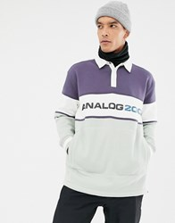Analog Squam Rugby Top In Grey