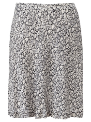 Jigsaw Morning Dew Flippy Skirt Navy