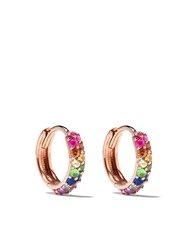 Carbon And Hyde 14Kt Rose Gold Rainbow Boom Huggies 60