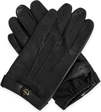 Dents Fleming Leather Driving Gloves Black