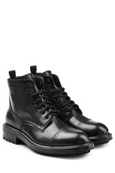 Marc Jacobs Leather Ankle Boots Black