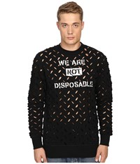 Vivienne Westwood Anglomania We Are Not Disposable Sweater Black Men's Sweater