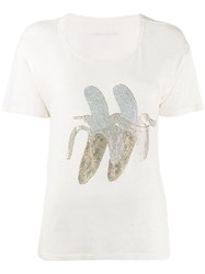 Zadig And Voltaire Marta Banana T Shirt Neutrals